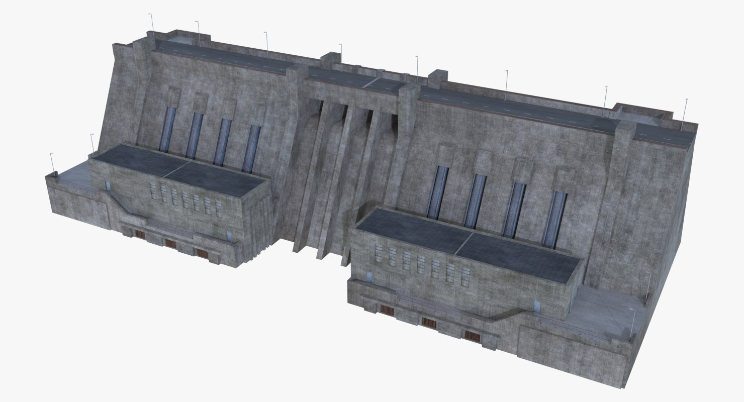 hydroelectric dam 1 model