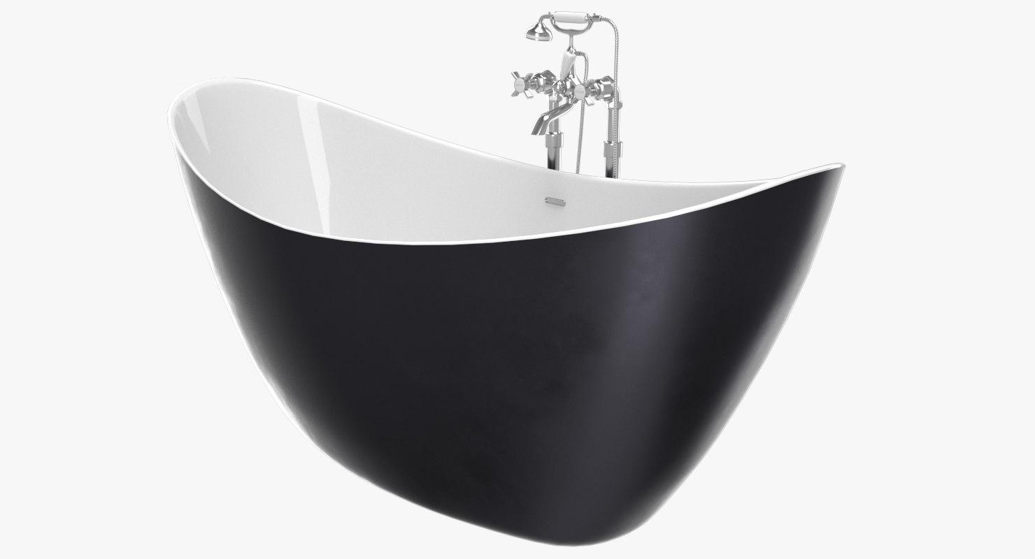 3D model vintage bathtub hylton cast iron