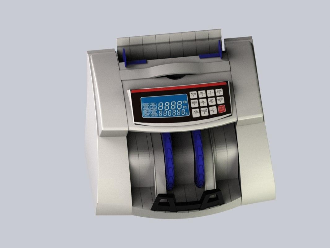 money counter bank machine 3D model