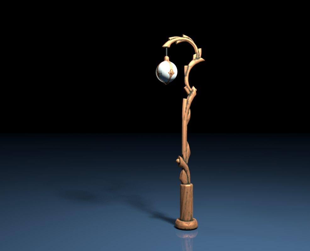 3D model street lantern