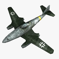 messerschmitt jet fighter 3D model