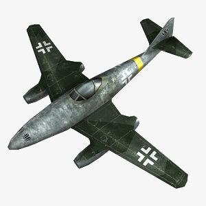 messerschmitt jet fighter 3D model