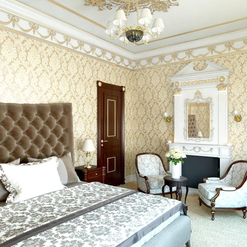 48D Classic Bedroom Design TurboSquid 48 Magnificent 3D Bedroom Design