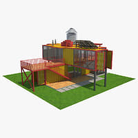 house container 3D