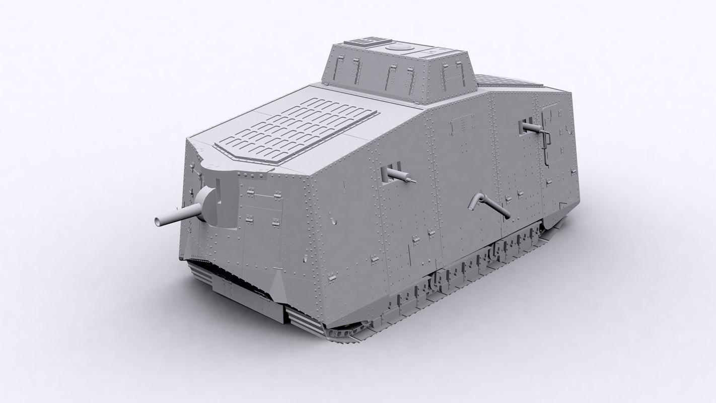 a7v tank 3D model