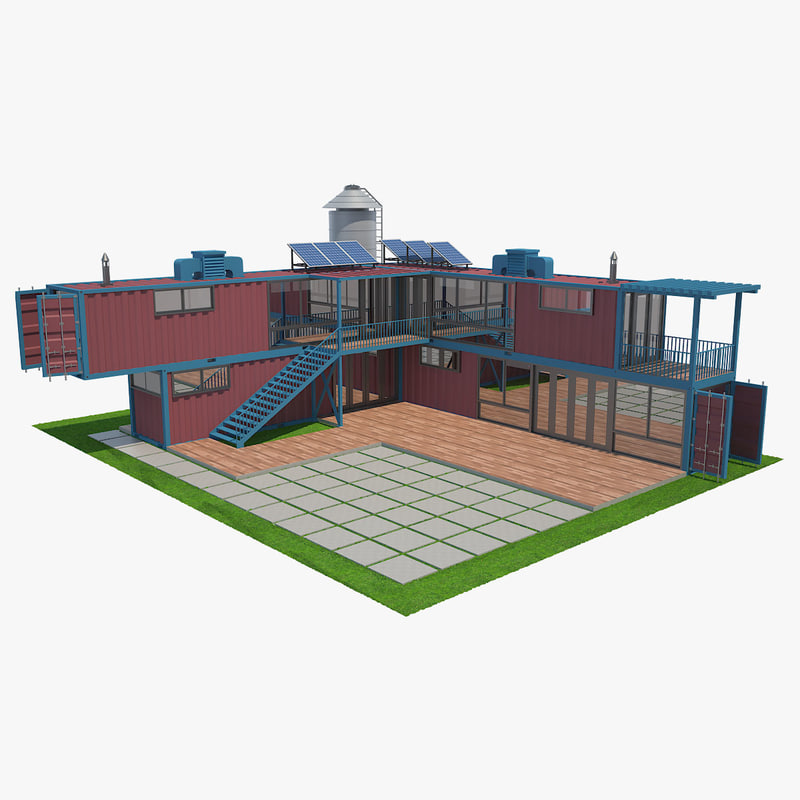 3D model house container