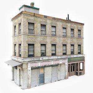 3D ready city building model
