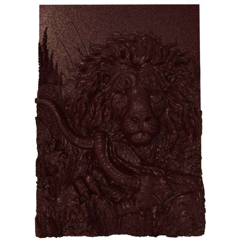bas relief successful hunting 3D model