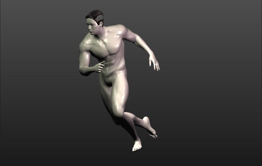 3D nude male