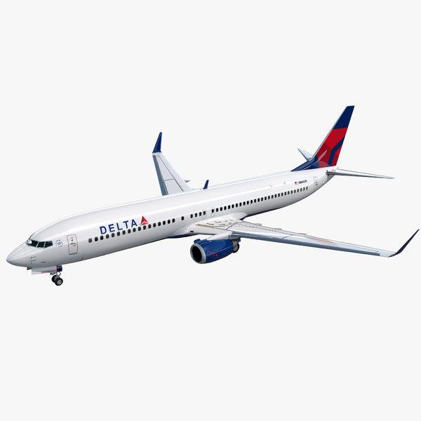 3D boeing 737-900 delta air lines model
