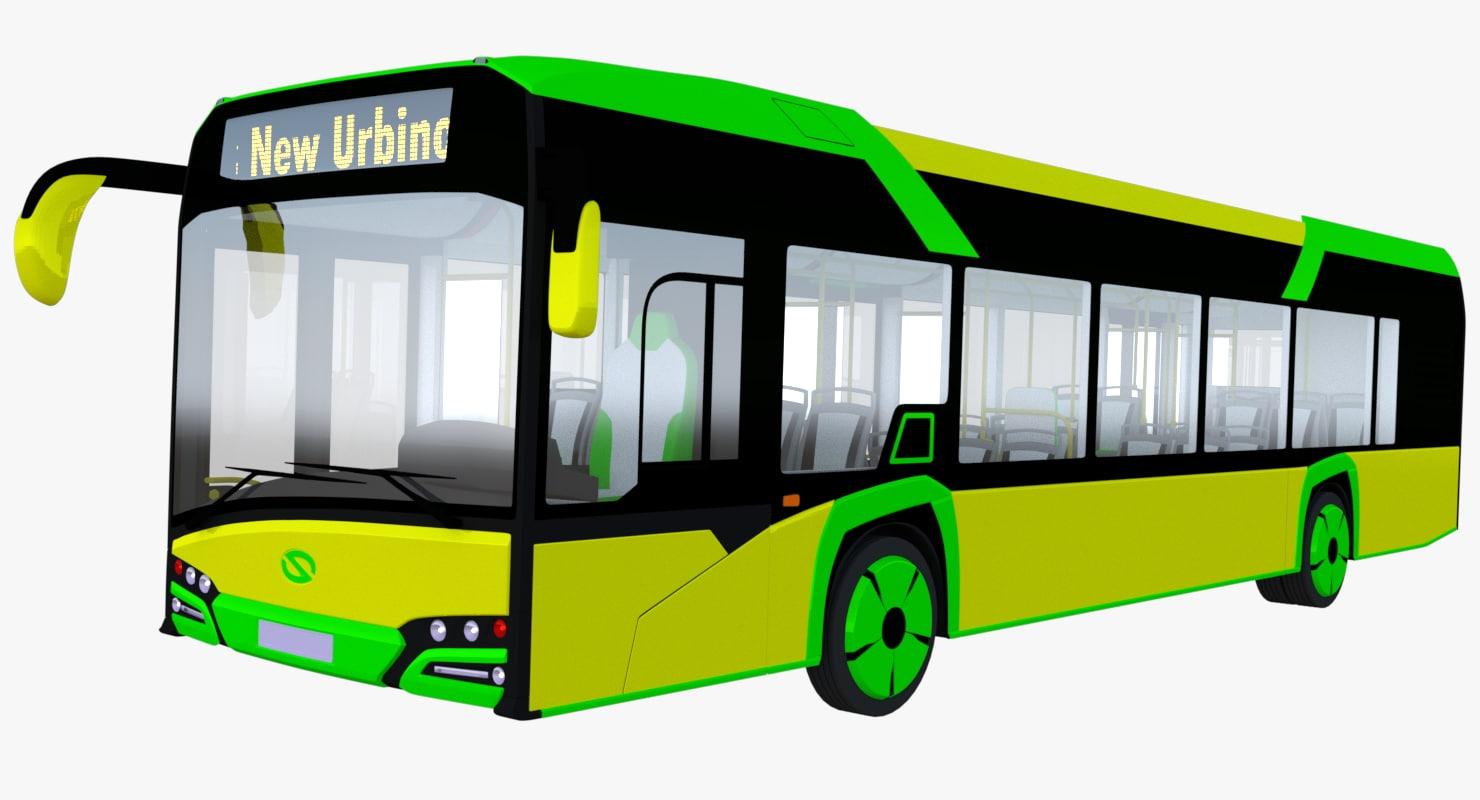 solaris urbino bus 3D model