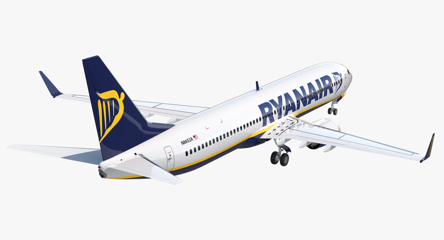 3D boeing 737-900 ryanair rigged