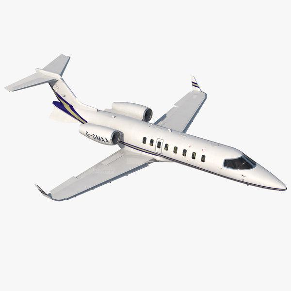 3D business jet bombardier learjet model
