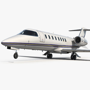 3D business jet bombardier learjet