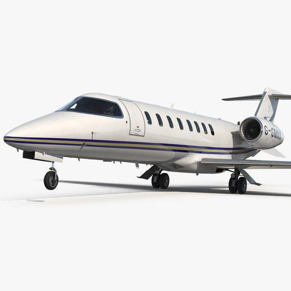 3D business jet bombardier learjet