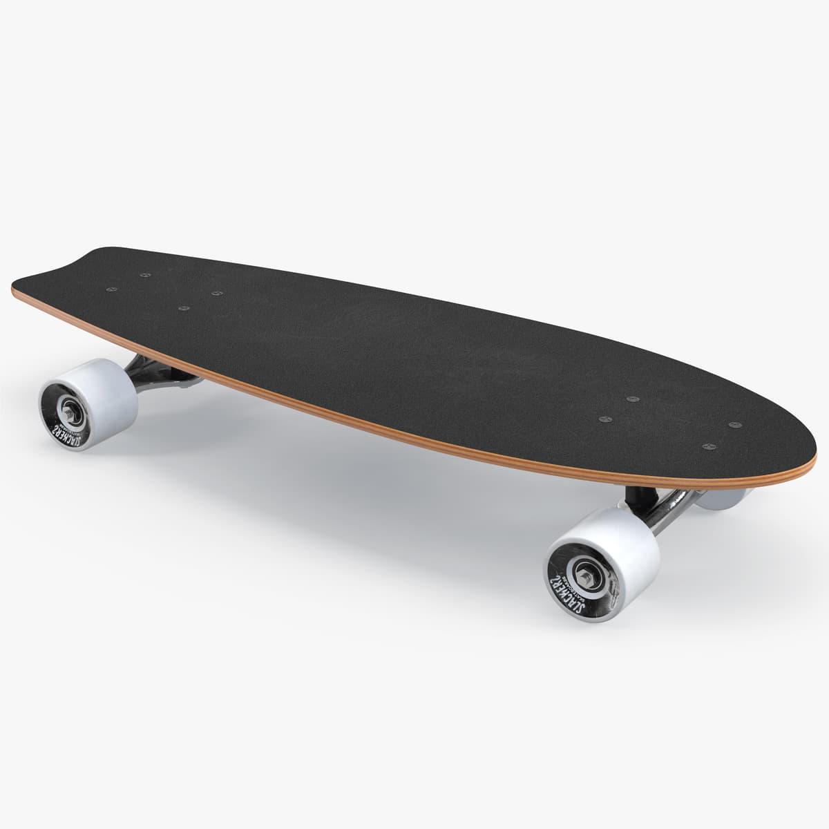 fishtail cruiser skateboard slackers 3D model