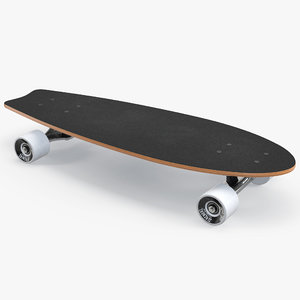 3D fishtail cruiser skateboard slackers