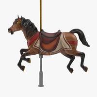 carousel horse v2 3D model