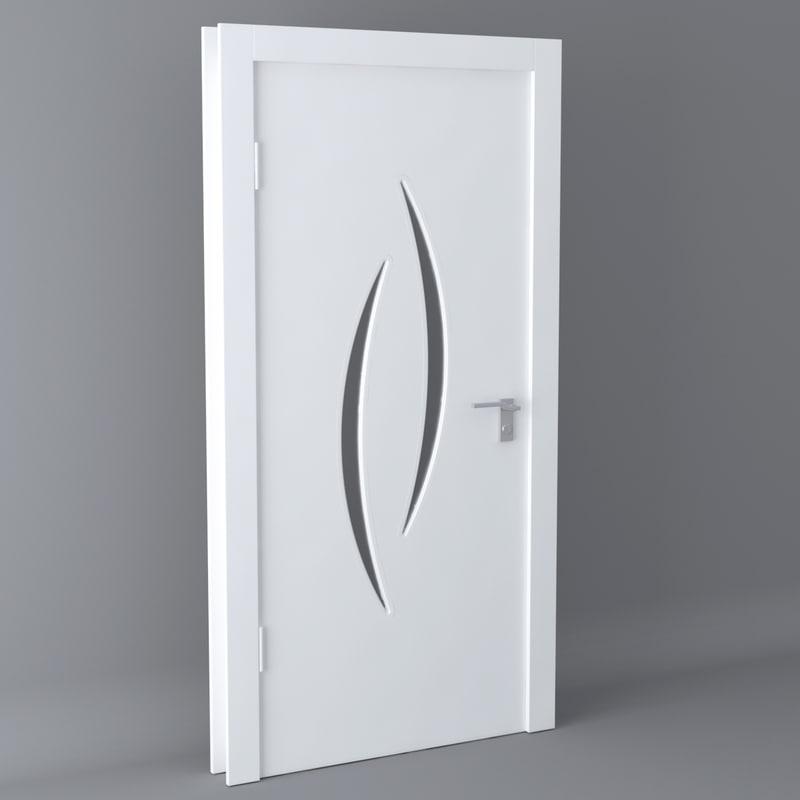 white door modern 3D model