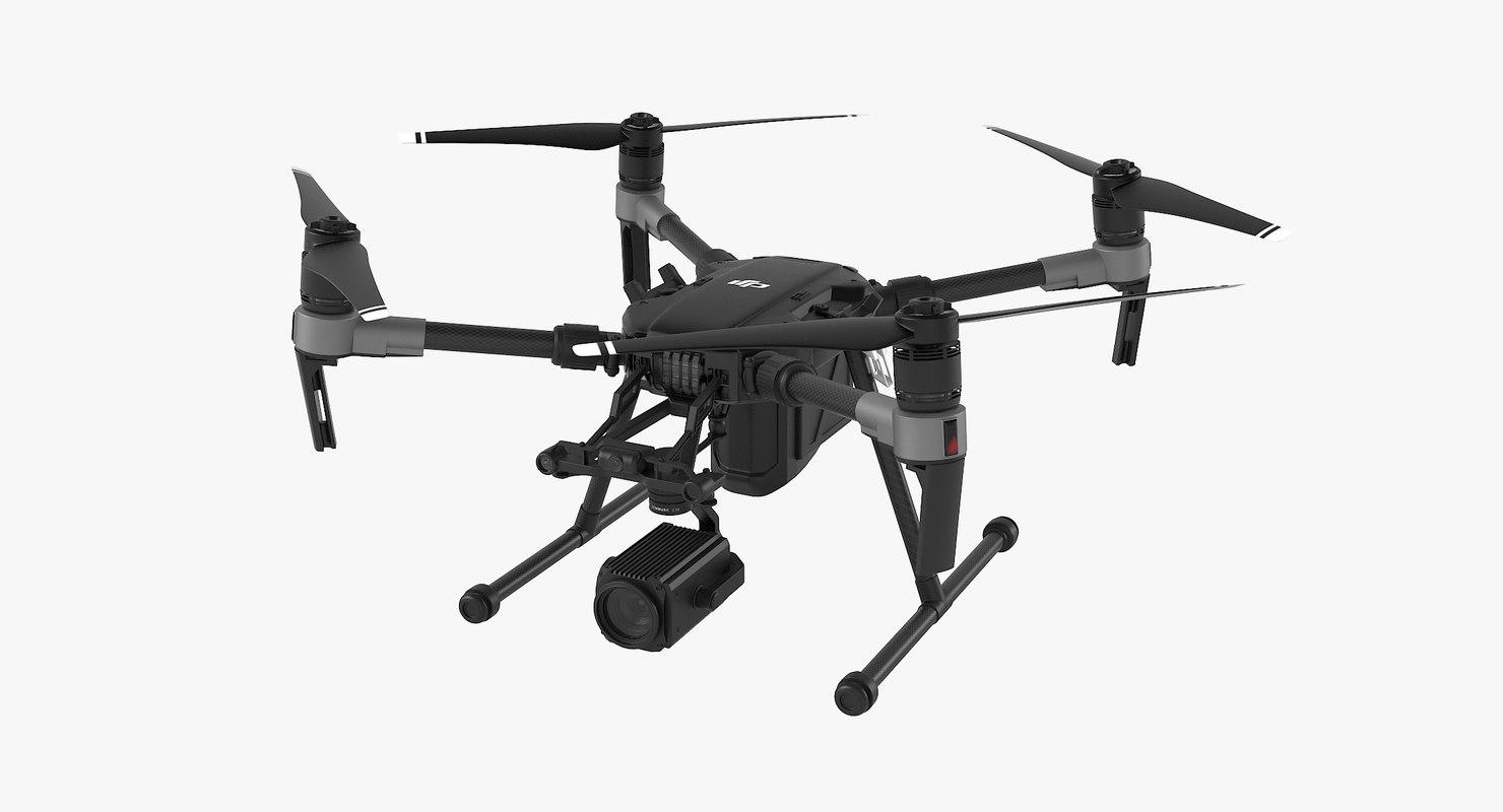 dji matrice 200 quadcopter 3D