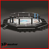 HD UFC octagon ring