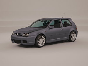 3D volkswagen golf 4 r32 model