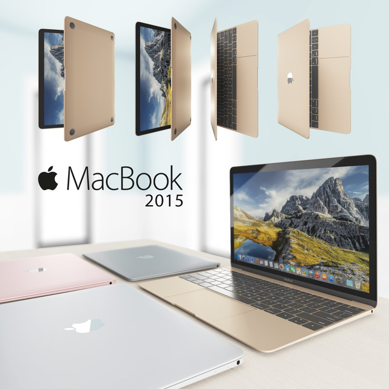 3D model macbook 2015
