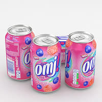 3D beverage omj! berry model