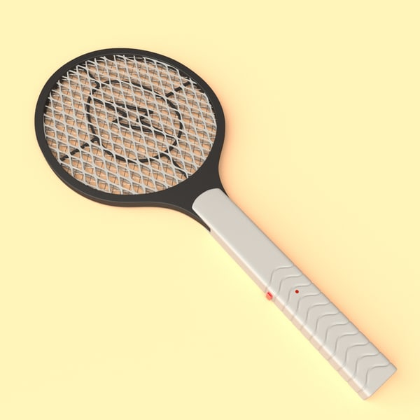 3D electric fly swatter model