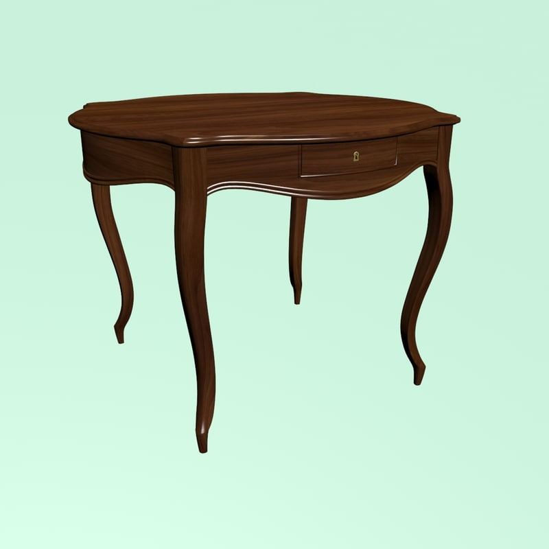 3D table cabriole