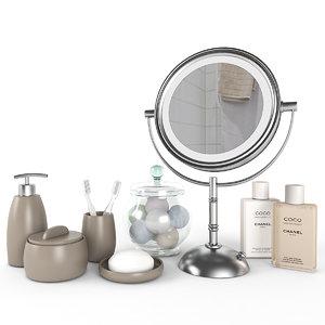 bathroom accessories bath 3D