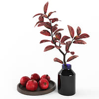 Decorative set with pomegranates