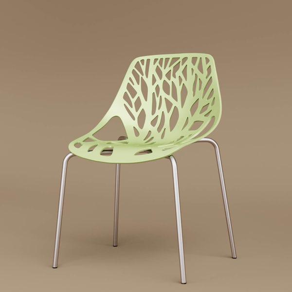 3D model baxton birch dining chair