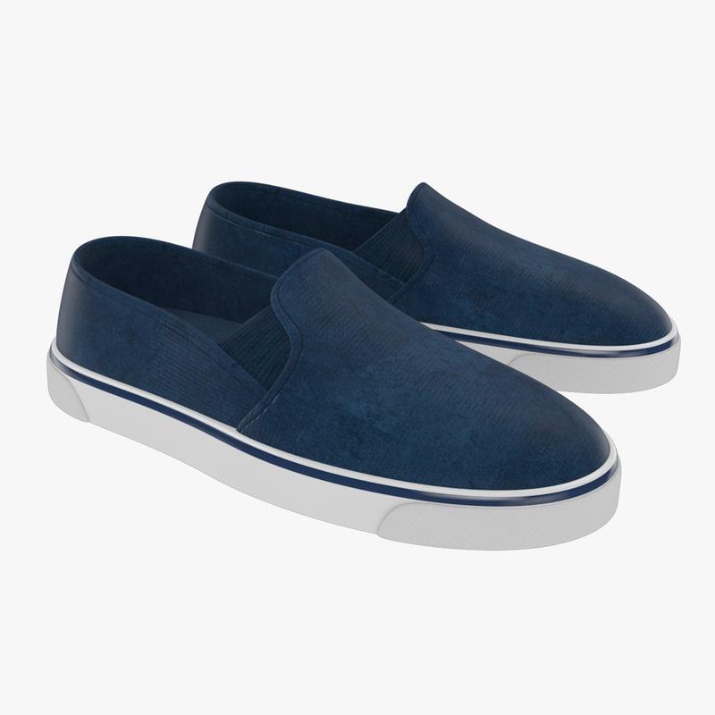 3D classic slip shoes model
