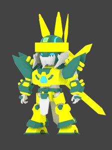 3D model mecha super