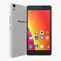 3D lenovo a7000 pearl white model