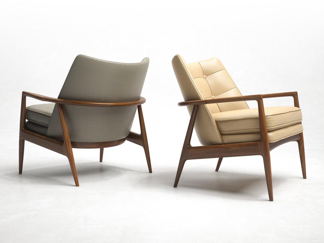 3D model draper lounge chair