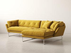 3D new york corner sofa