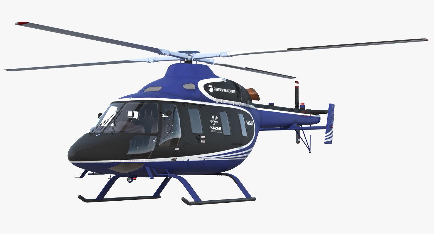 3D light helicopter kazan ansat