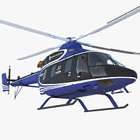 light helicopter kazan ansat 3D model