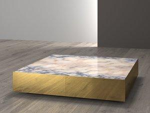 3D model elliott large square table