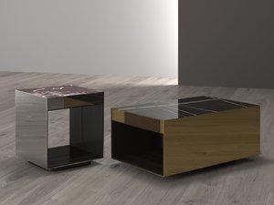 elliott small square table 3D model