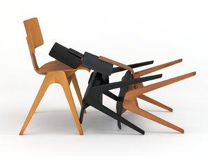 3D hille stak chair