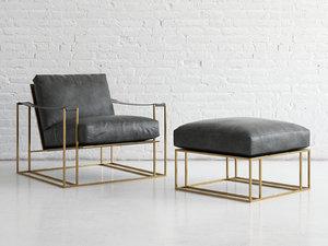 sling chair ottoman model