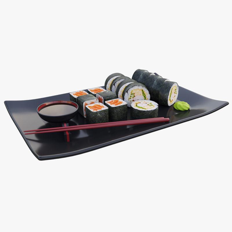 sushi rolls model