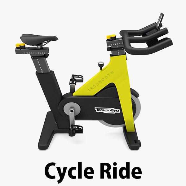 3D model - group ride technogym