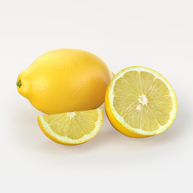 lemon fruit 3D