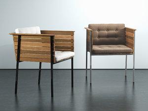3D h ringe armchair