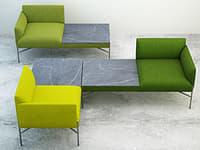 armchair set 3D