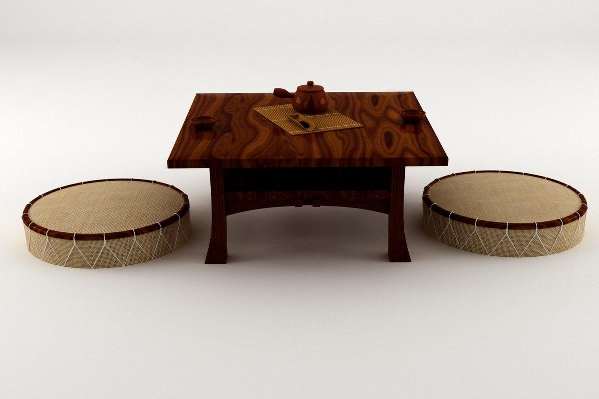 japanese table 3D model